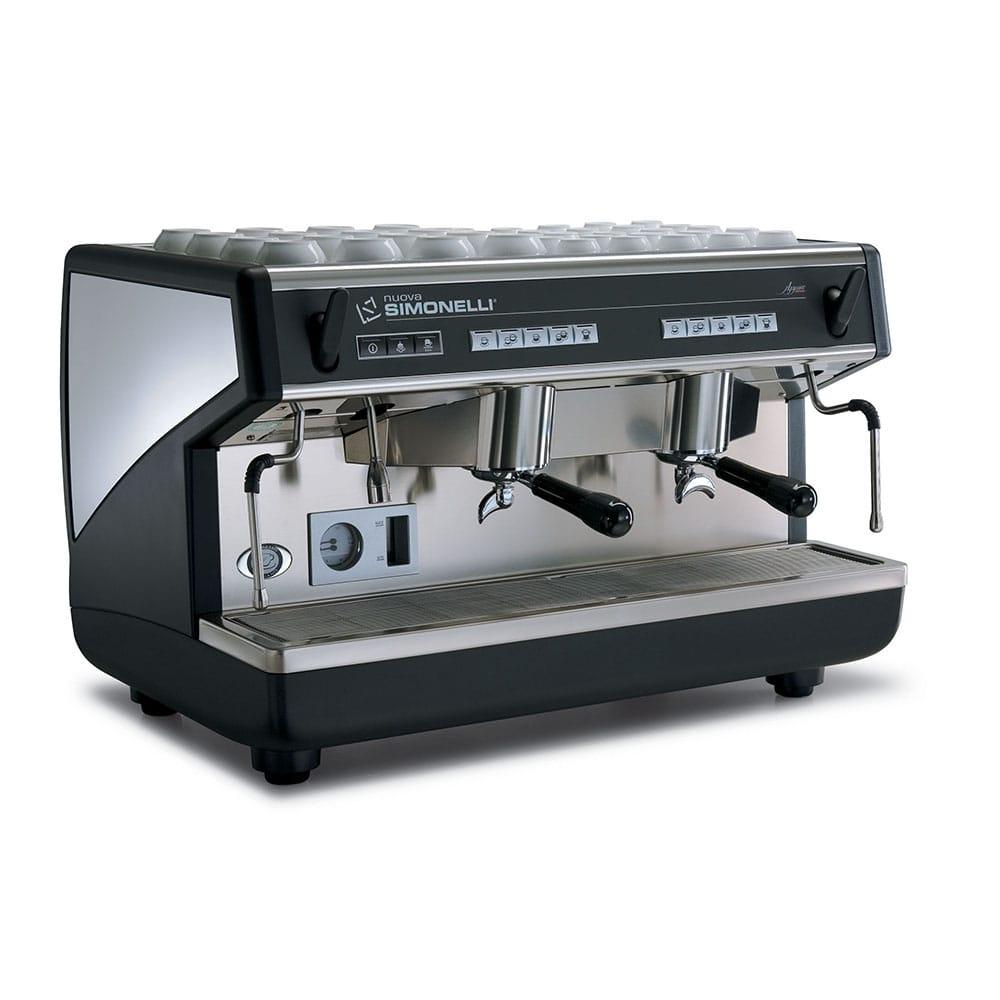Фото сбоку рожковой кофемашины Nuova Simonelli Appia II 2 Gr S с высокими группами