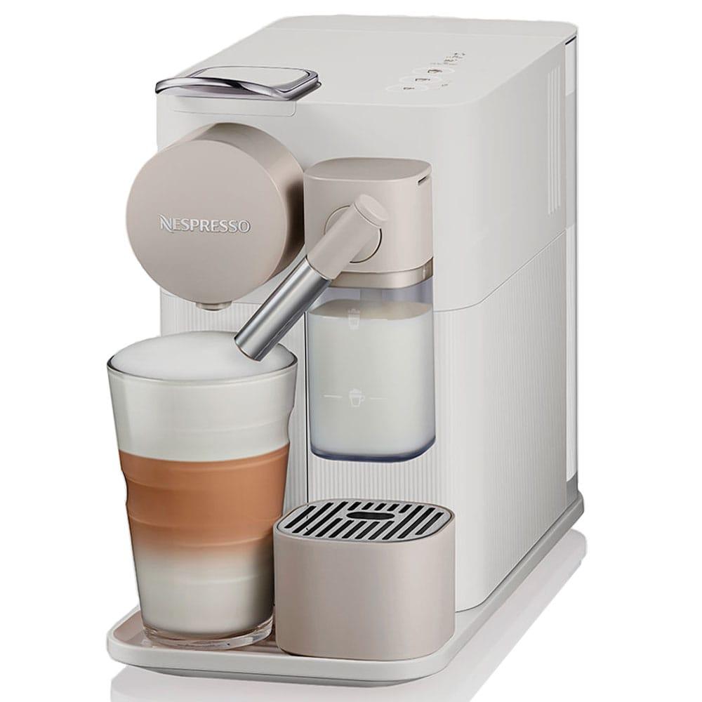 Фотография капсульной кофемашины Delonghi Lattissima One EN 500 W Silky White цвет белый