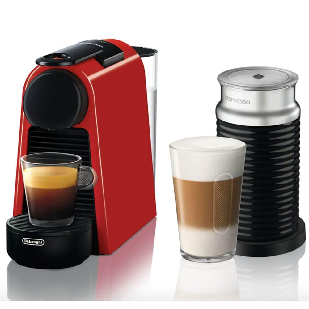 Капсульная кофемашина Delonghi Nespresso Essenza Mini EN85.RAE с капучинтором Aeroccino 3
