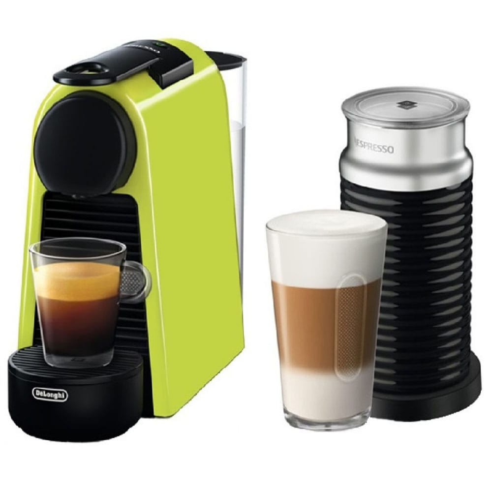 Капсульная кофемашина Delonghi Nespresso Essenza Mini EN85.LAE лайм в комплекте капучинатор Aeroccino 3