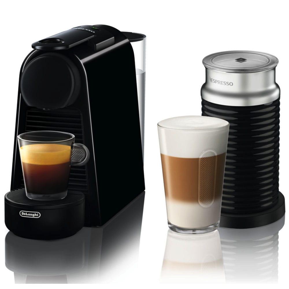 Капсульная кофемашина Delonghi Nespresso Essenza Mini EN85.BAE с капучинатором Aeroccino 3 в комплекте