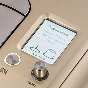 Электронный дисплей и крутилка для регулировки объема порции на кофемашине Bork Nespresso C730 CH Creatista
