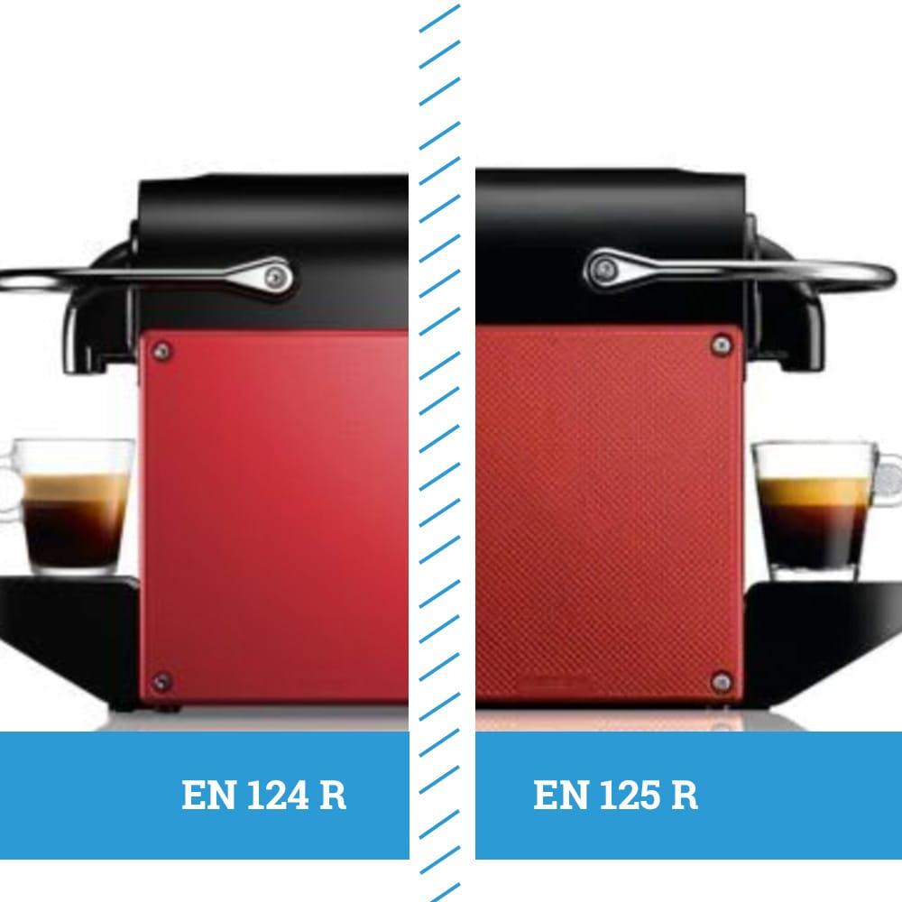 Отличия в разной фактуре боковых панелей в кофемашинах Delonghi EN 124 R и EN 125 R