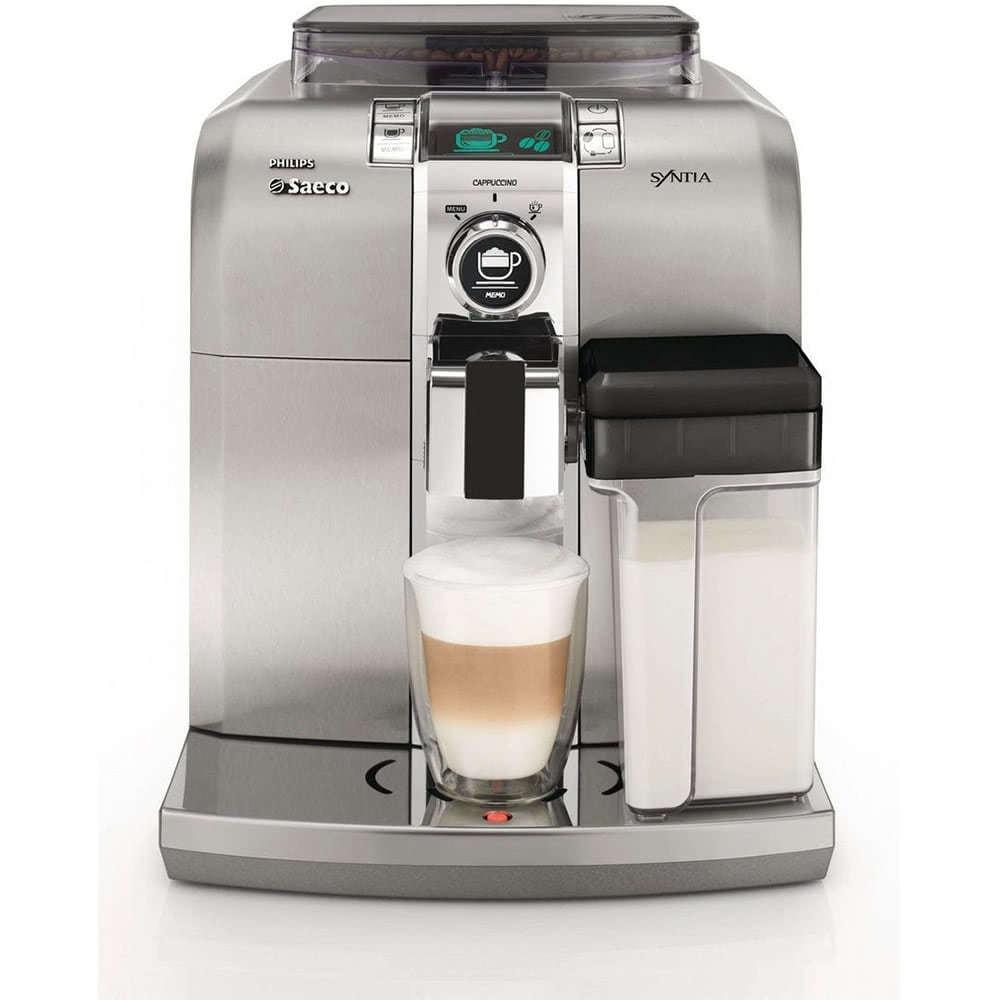 Кофемашина автоматическая зерновая Saeco HD8838 Syntia-фото-вид спереди