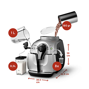автоматическое ополаскивание элементов циркуляции кофе Philips HD8654 2100 Series