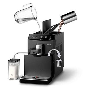 Автоматическая промывка системы водой в кофемашине  Philips HD8829 3000 Series