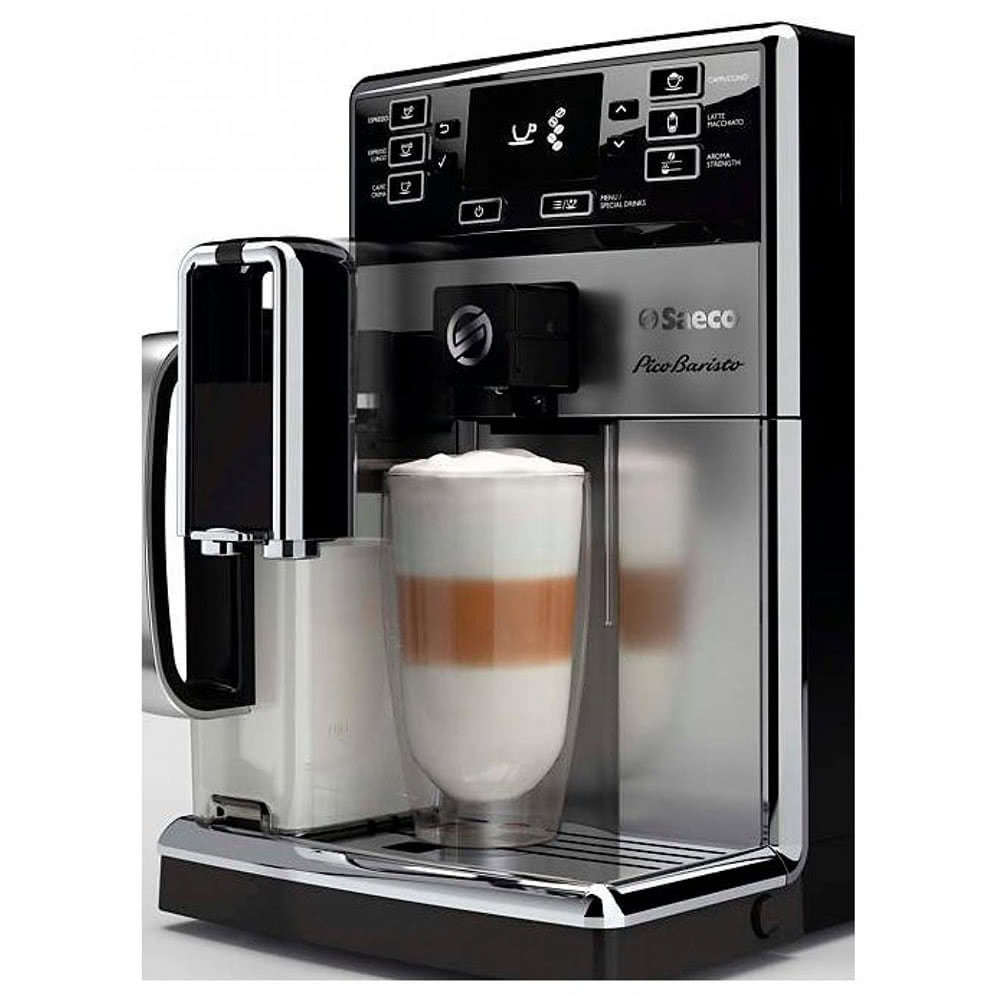 Кофемашина автоматическая зерновая Saeco HD 8928 PicoBaristo фото спереди