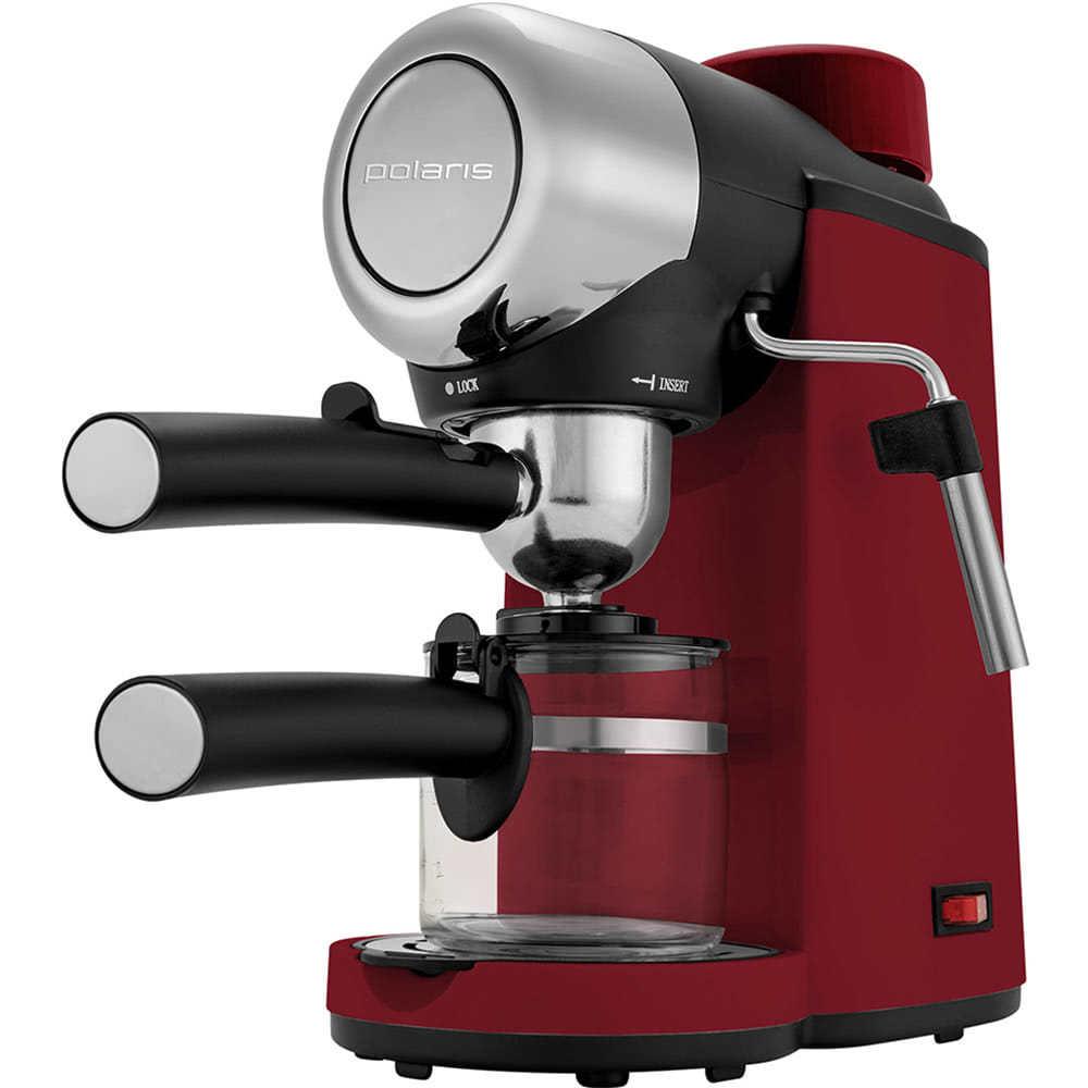 Фото кофеварки рожковой Polaris PCM 4007A вид под углом