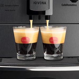 фото Nivona CafeRomatica 660 с функцией одновременной раздачи на 2 чашки