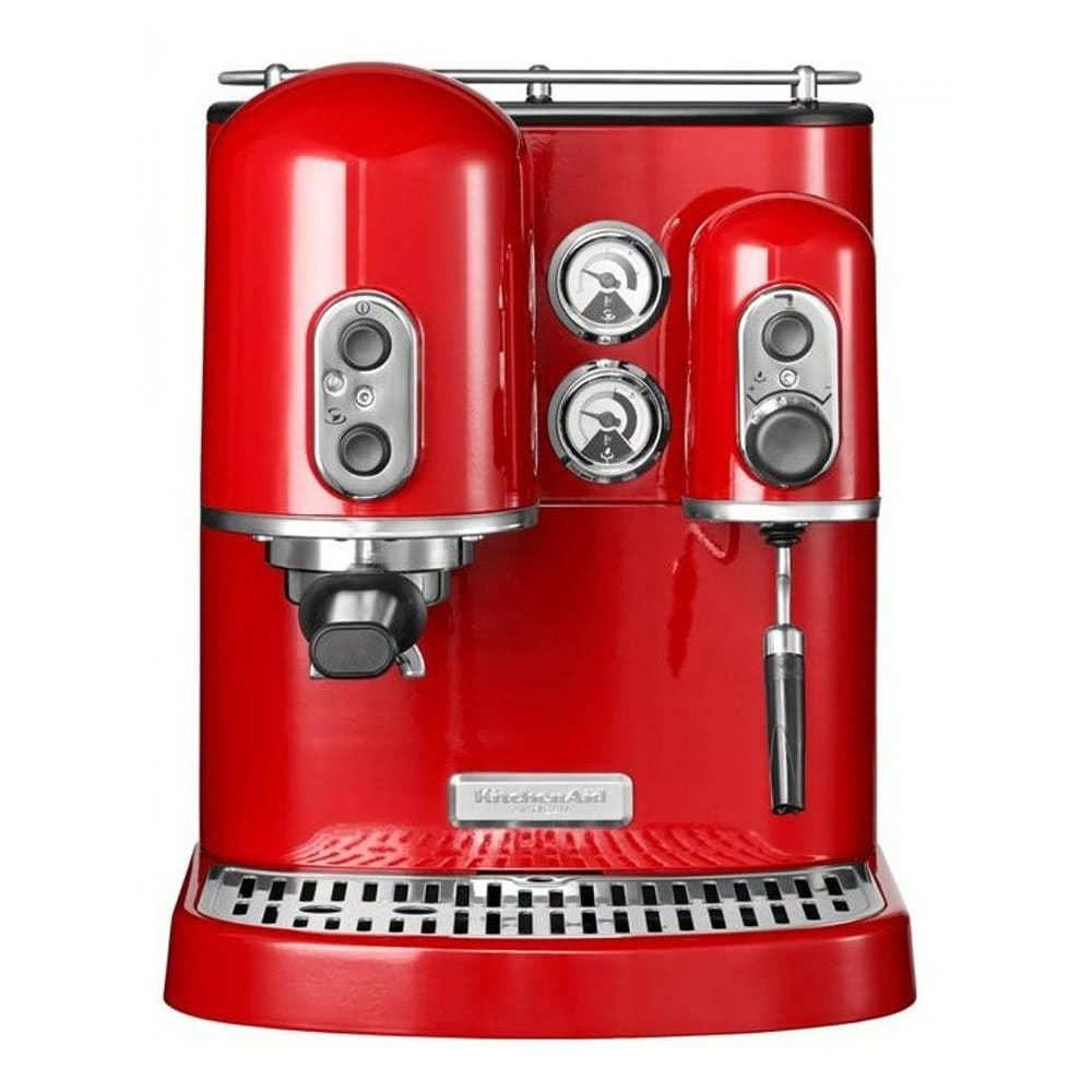 Кофеварка рожковая KitchenAid 5KES2102.R цвет красный фото спереди