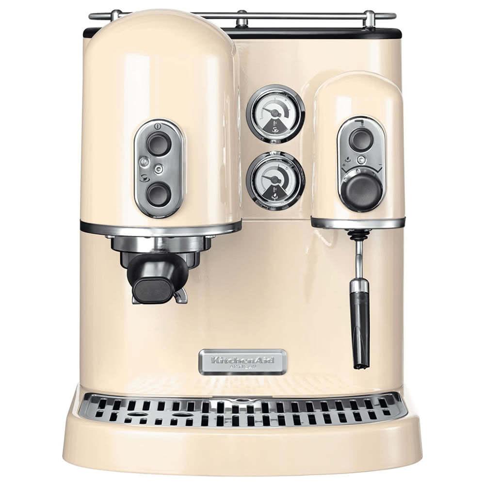 Кофеварка рожковая KitchenAid 5KES2102.C цвет кремовый фото вид спереди