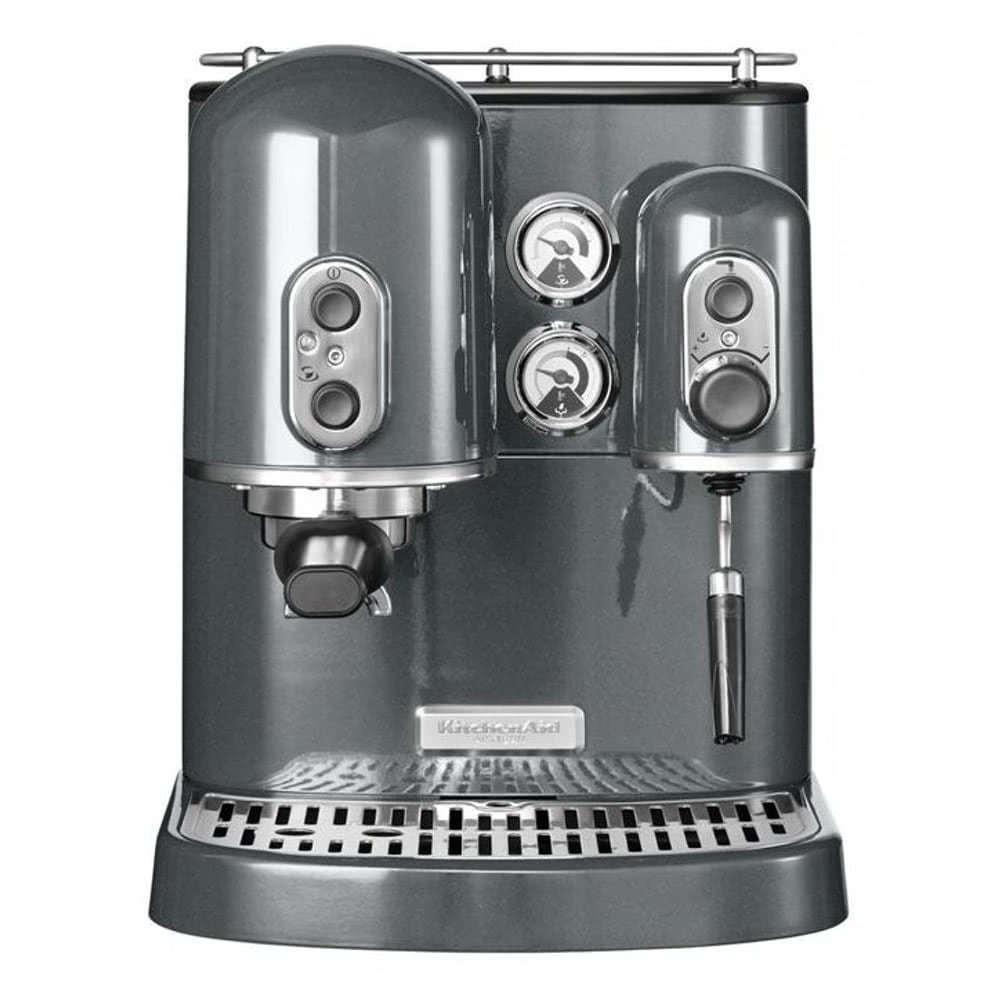 Кофеварка рожковая KitchenAid 5KES2102.S цвет серебряный фото вид спереди