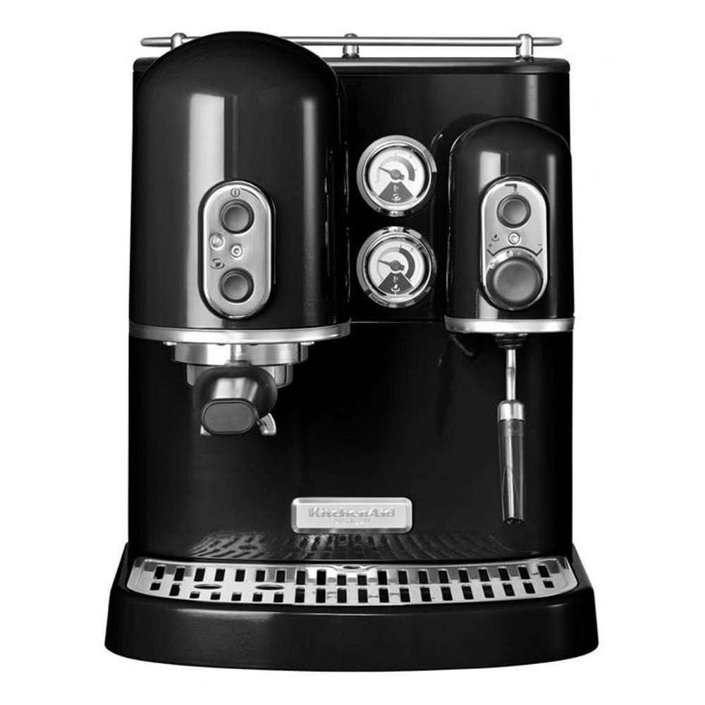 Кофеварка рожковая KitchenAid 5KES2102.B цвет черный фото вид спереди