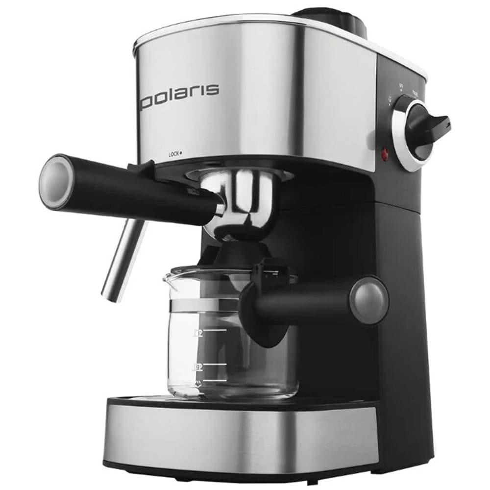 Кофеварка рожковая Polaris PCM 4008AL вид спереди