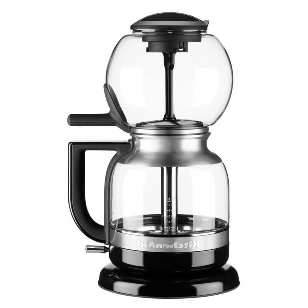 Кофеварка KitchenAid 5KCM0812EOB цвет серебристый фото вид спереди