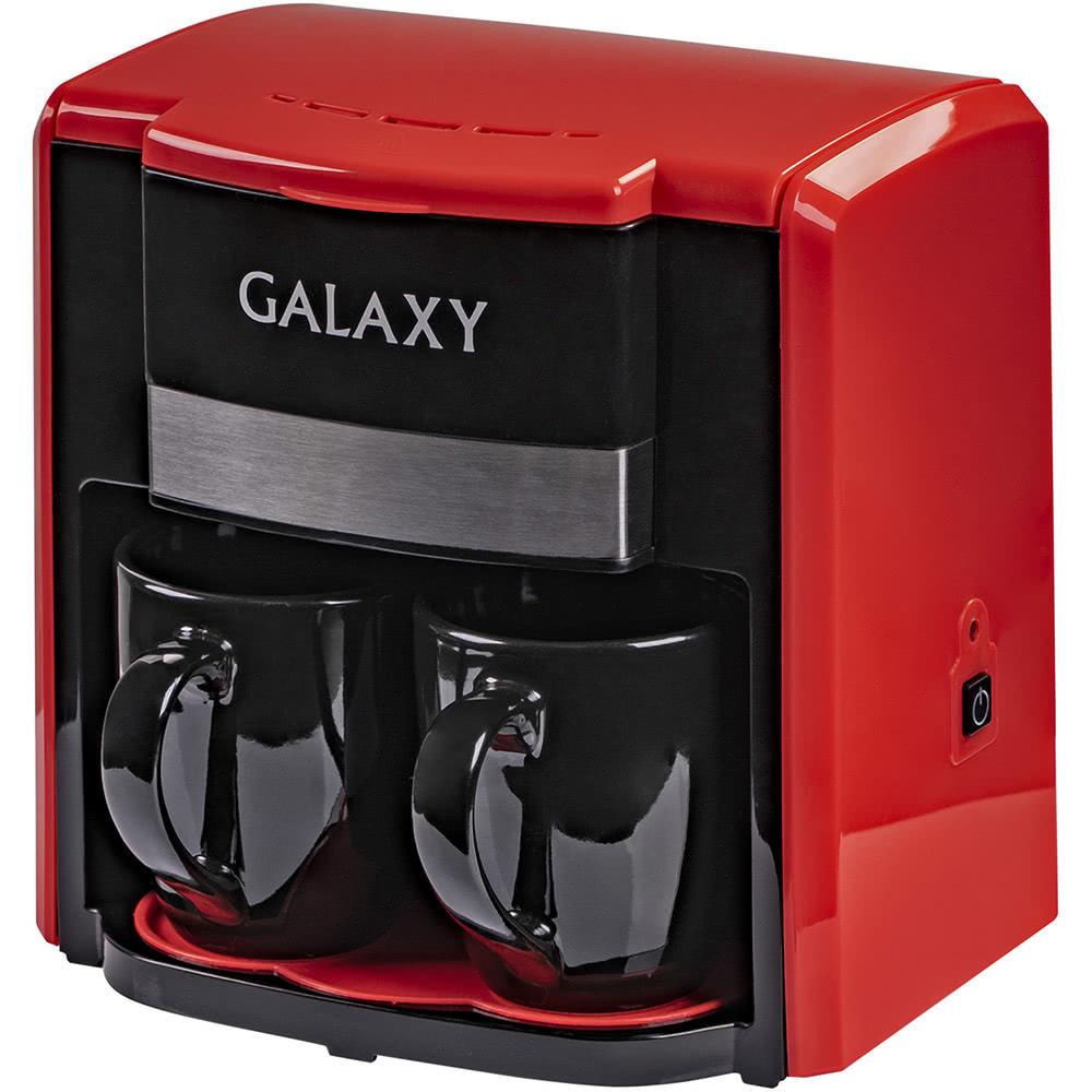 Кофеварка Galaxy GL0708.R цвет красный фото вид спереди