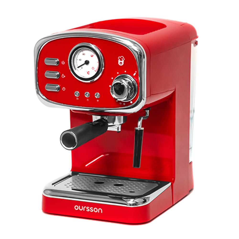Кофеварка рожковая Oursson EM1505.R главное фото вид спереди