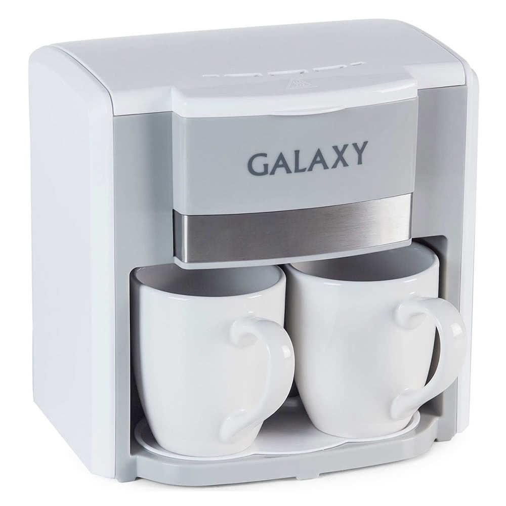 Кофеварка Galaxy GL0708.W цвет белый фото вид спереди