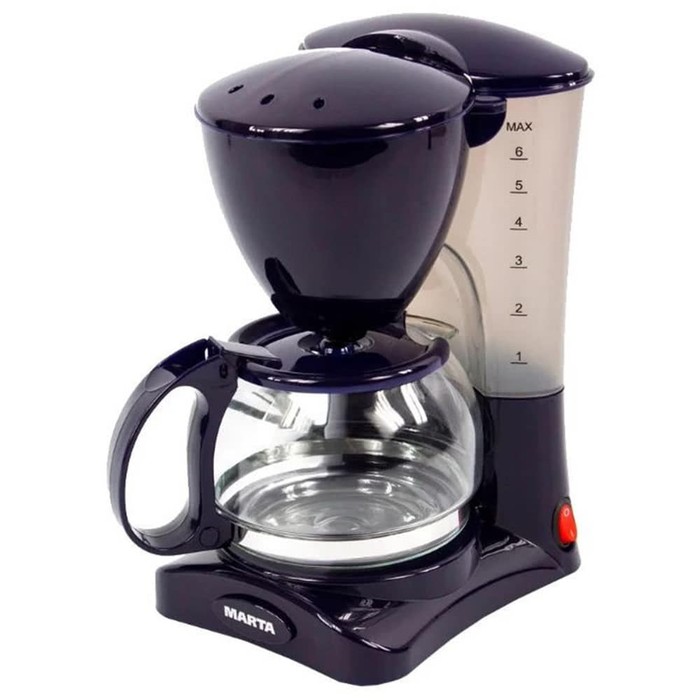 Кофеварка Marta MT-2115.D.T цвет темный топаз фото вид спереди