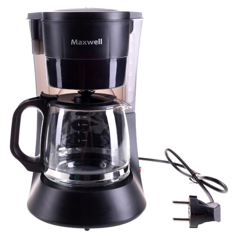 Кофеварка Maxwell MW-1650 цвет черный фото вид спереди