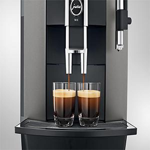 12 программируемых напитков в кофемашине Jura WE8 Dark Inox