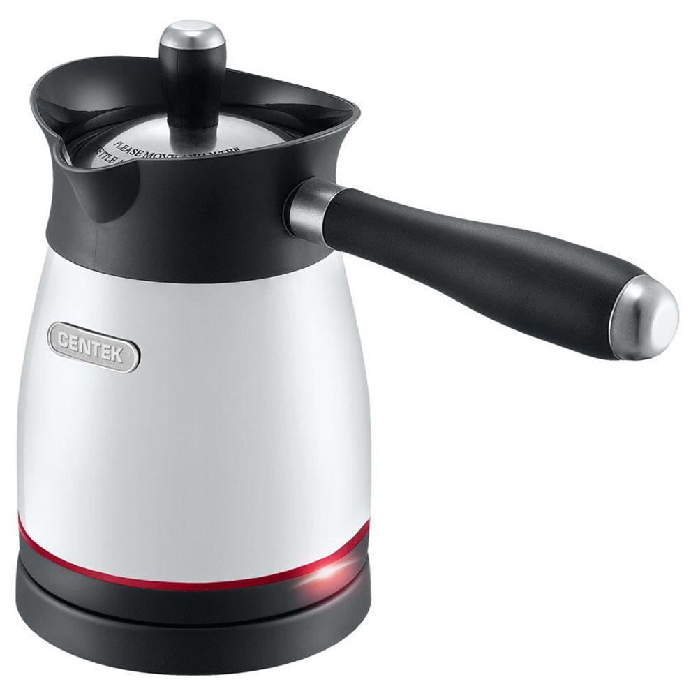 Кофеварка CENTEK CT-1080.W фото вид сбоку