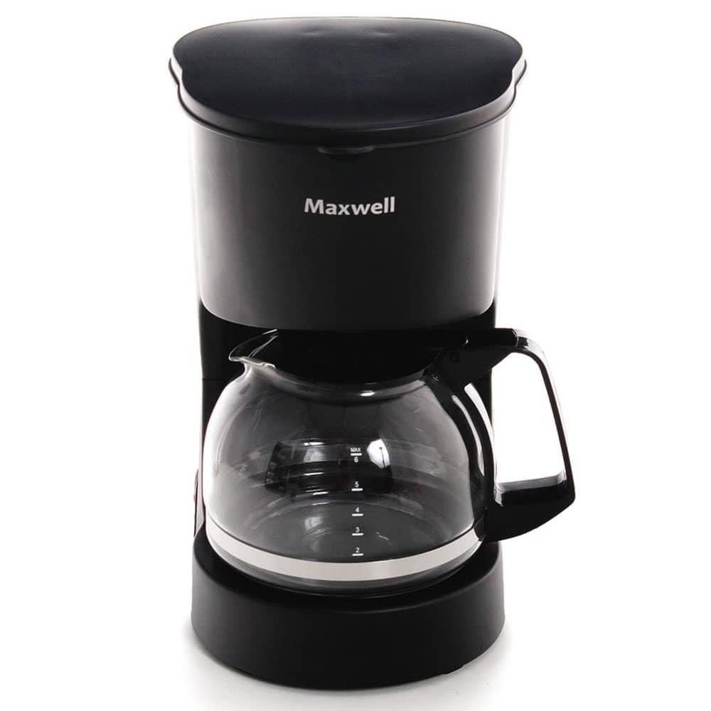 Кофеварка Maxwell MW-1657 цвет черный фото вид спереди