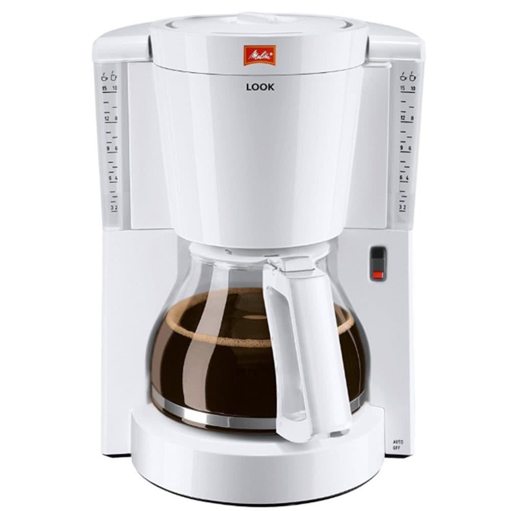 Кофеварка Melitta Look W цвет белый фото вид спереди