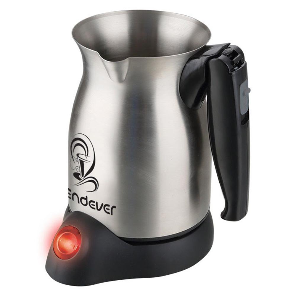 Кофеварка Endever Costa-1005 цвет серебристый фото вид спереди