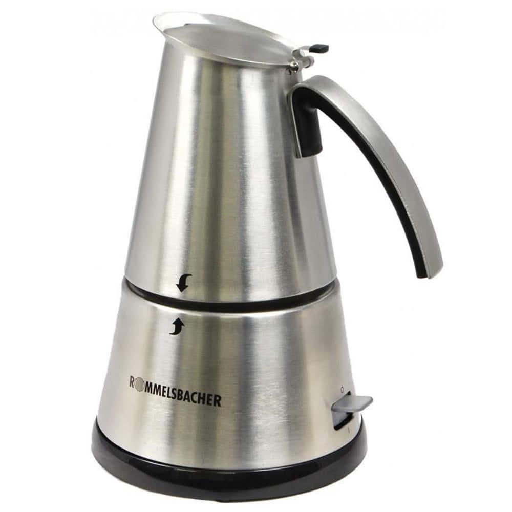 Кофеварка Rommelsbacher EKО 366/E цвет серебристый фото вид спереди