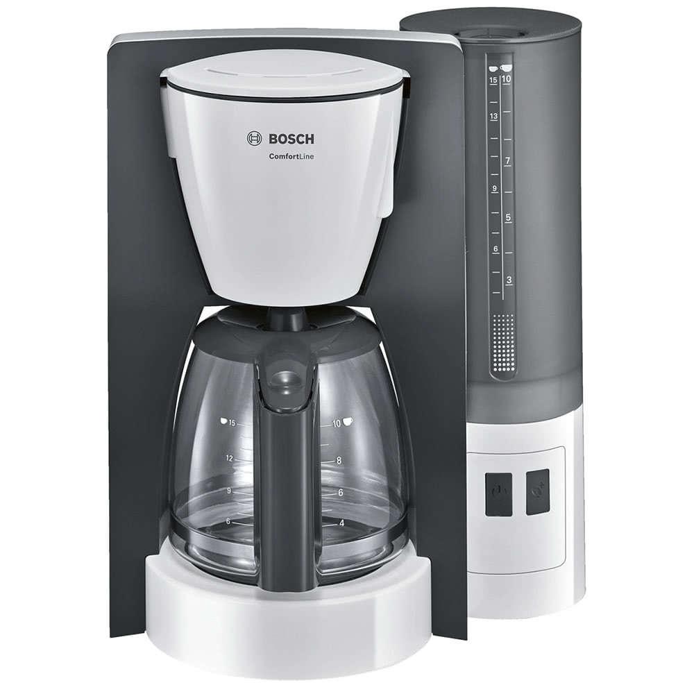Кофеварка Bosch ComfortLine TKA 6A041 цвет белый фото вид спереди
