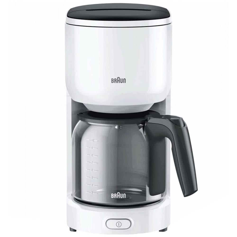 Кофеварка Braun KF 3100 цвет белый фото вид спереди