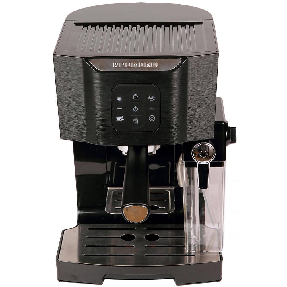 Кофеварка рожковая REDMOND RCM-1511 цвет черный фото вид спереди