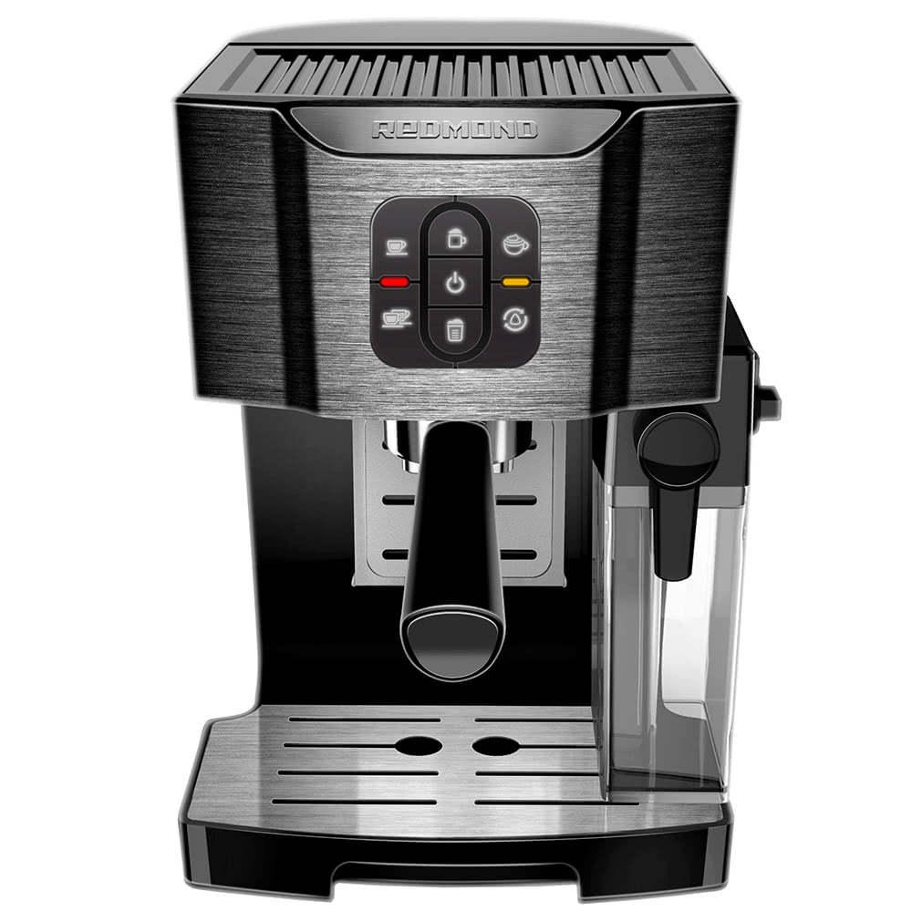 Кофеварка рожковая REDMOND RCM-1512 цвет черный фото вид спереди