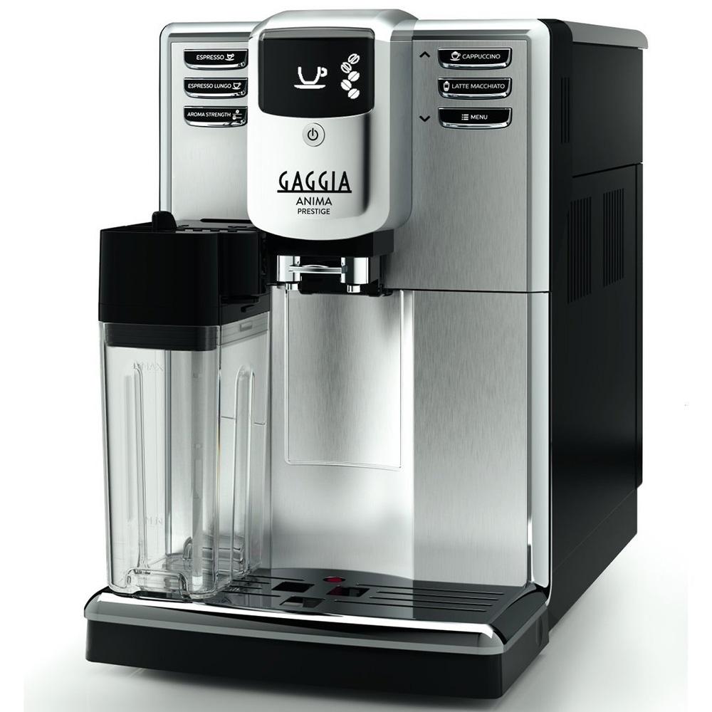 Кофемашина автоматическая зерновая Gaggia Anima Prestige OTC цвет серебристый фото вид сбоку