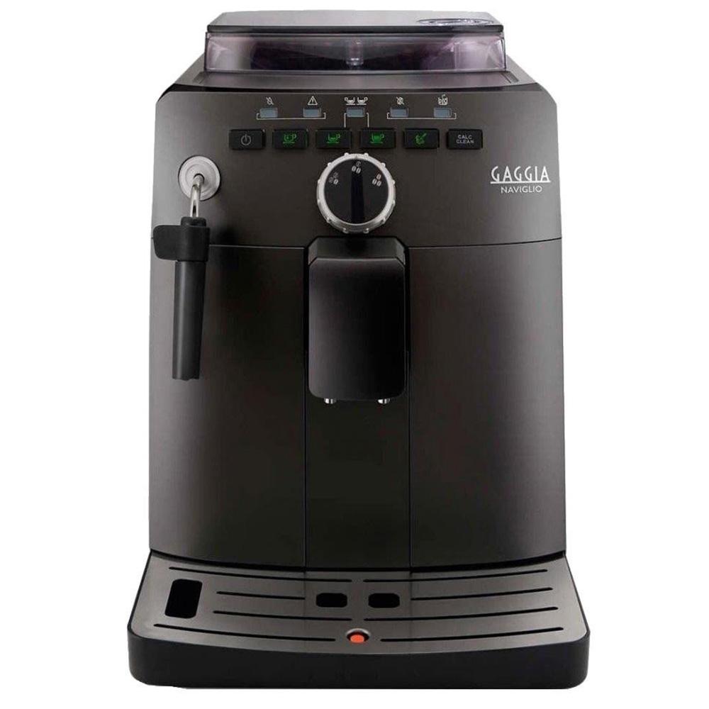 Кофемашина автоматическая зерновая Gaggia Naviglio Black цвет черный фото вид спереди