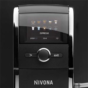 текстовый дисплей на русском языке и символьное обозначени в кофемашине Nivona CafeRomatica 841