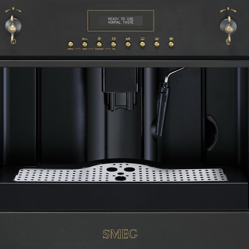 Кофемашина автоматическая зерновая smeg CMS8451B фото вид спереди