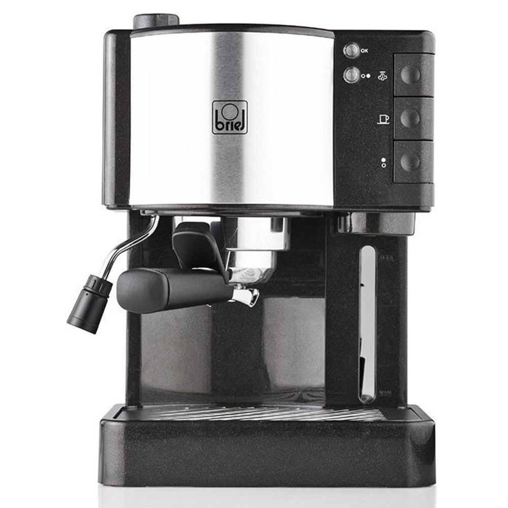 Кофеварка рожковая Briel ES35 цвет черный фото вид спереди