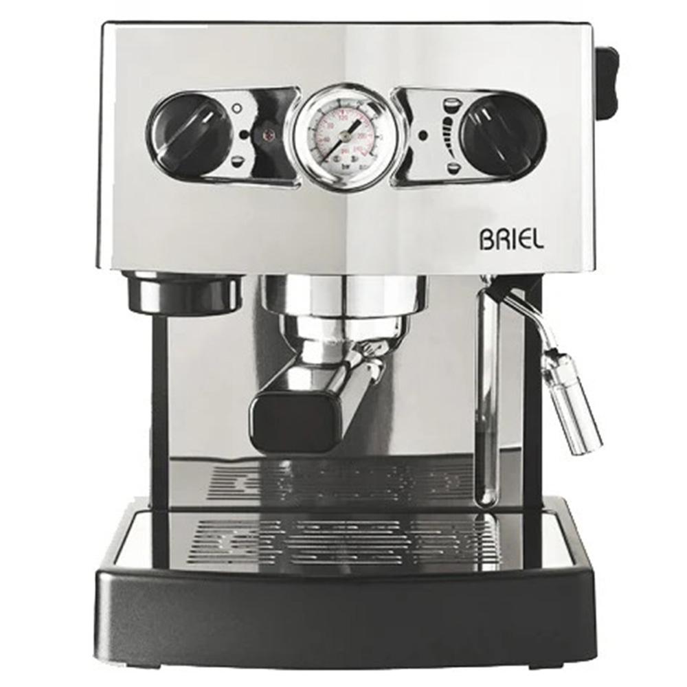 Кофеварка рожковая Briel ES71А 19 Bar Pro цвет серебристый фото вид спереди