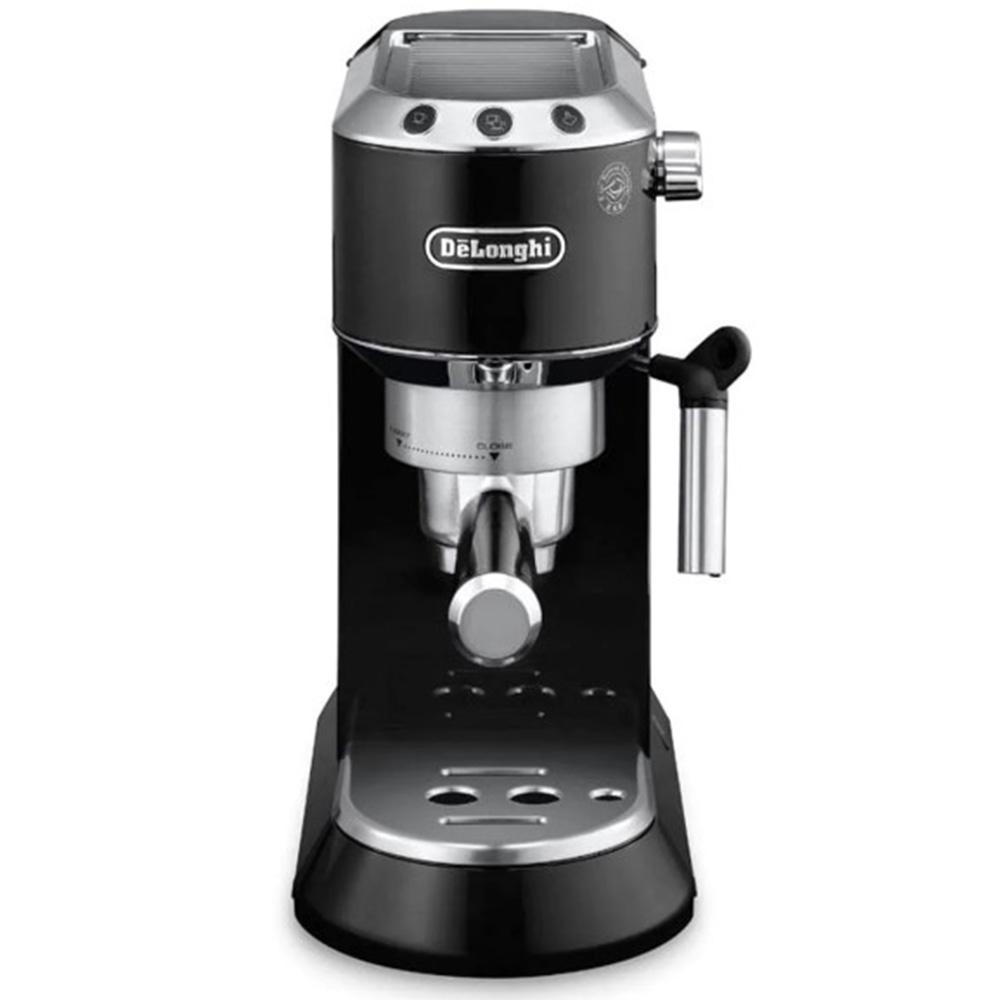 Кофеварка рожковая De'Longhi Dedica EC 680.B цвет черный фото вид спереди