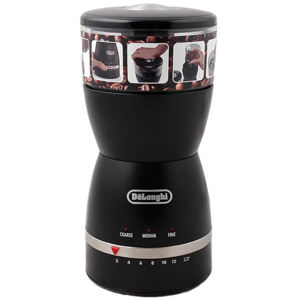 Кофемолка De'Longhi KG 49 цвет черный фото вид спереди