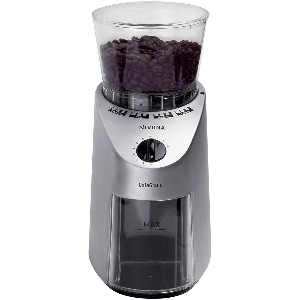 Кофемолка Nivona NICG 130 CafeGrano цвет серебристый фото вид спереди