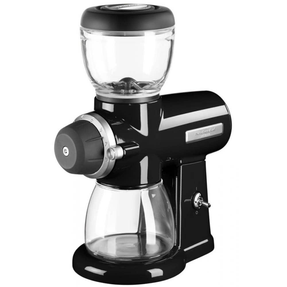 Кофемолка KitchenAid Burr Coffee Mill.B вид спереди под углом