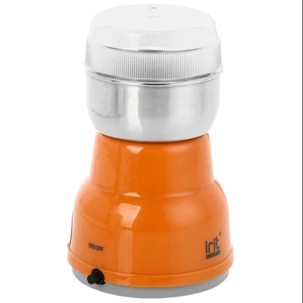 Кофемолка irit IR-5303.O цвет оранжевый фото вид спереди
