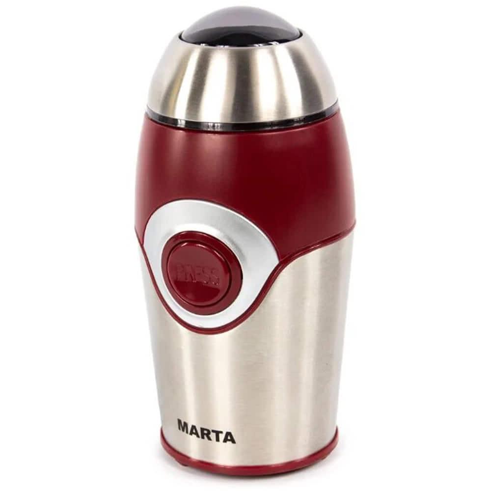 Кофемолка MARTA MT-2169.R вид спереди под углом