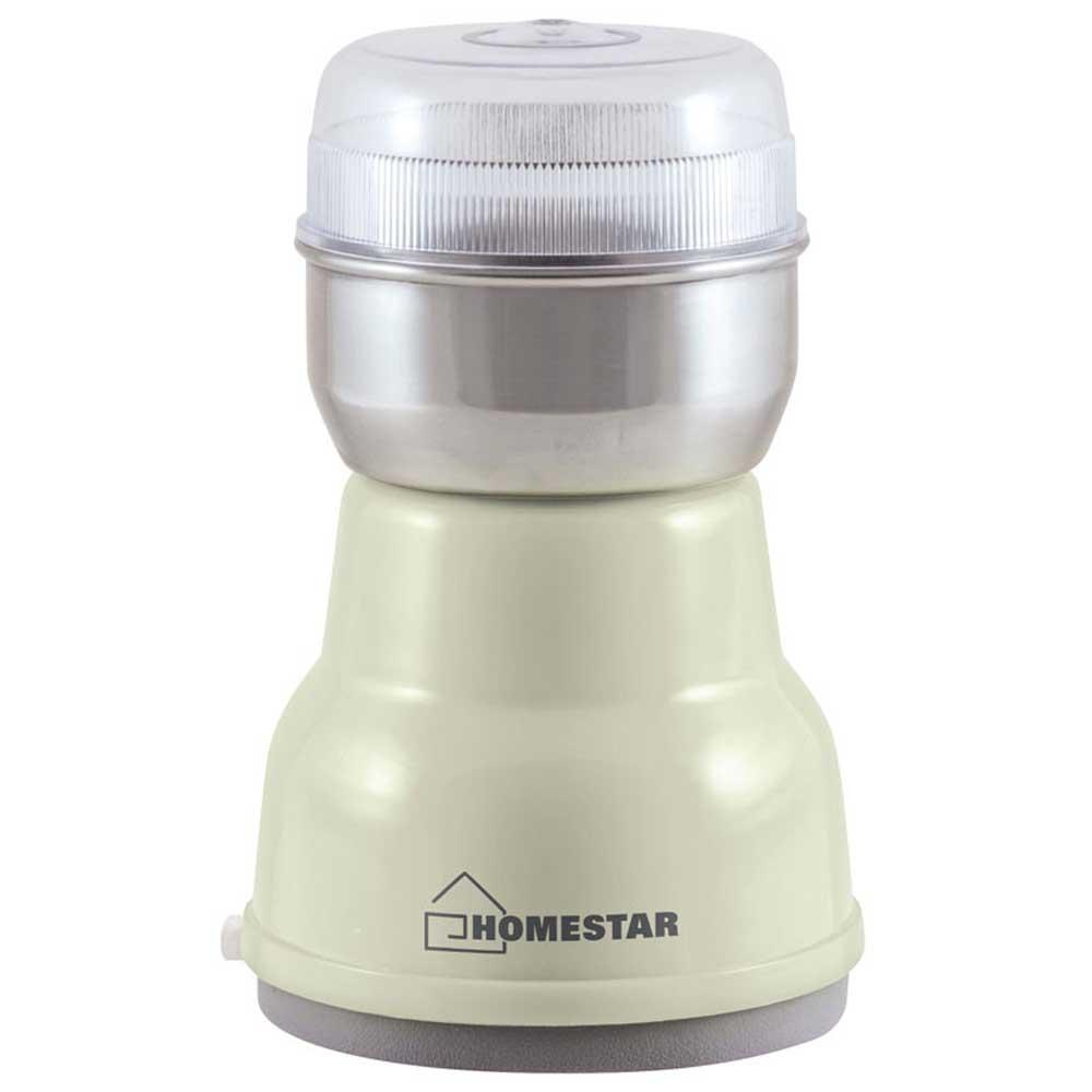 Кофемолка HOMESTAR HS-2001 бежевая фото вид спереди