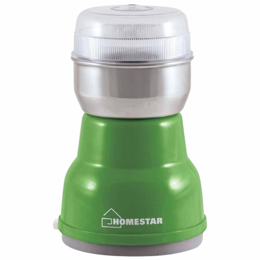 Кофемолка HOMESTAR HS-2001 зеленая фото вид спереди
