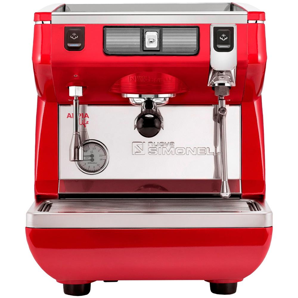 Кофемашина NUOVA SIMONELLI Appia Life 1Gr S 220V red цвет красный фото вид спереди