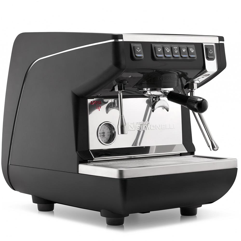 Кофемашина NUOVA SIMONELLI Appia Life 1Gr V 220V black цвет черный фото вид сбоку
